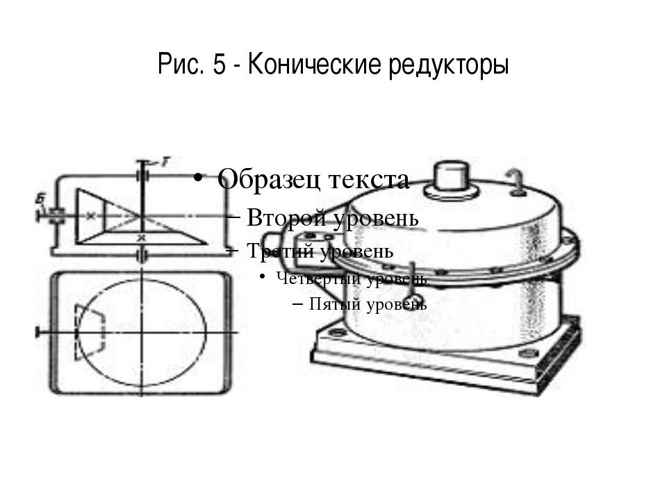 Рис. 5 - Конические редукторы