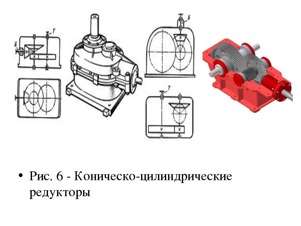 Рис. 6 - Коническо-цилиндрические редукторы