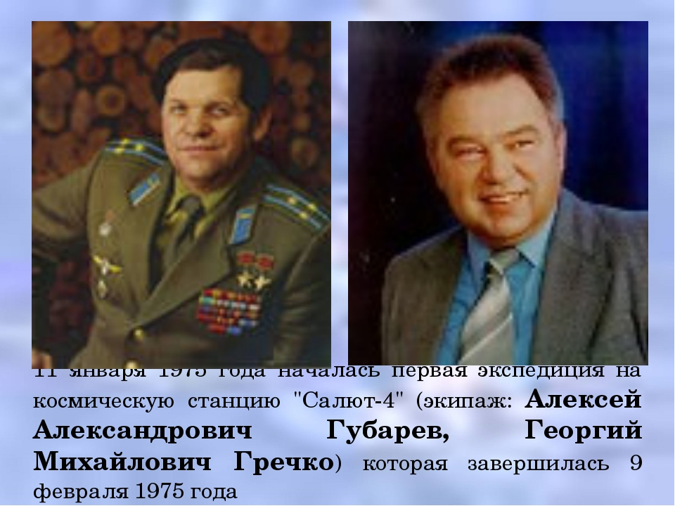 """11 января 1975 года началась первая экспедиция на космическую станцию """"Салют-..."""