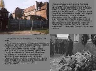 Концентрационный лагерь Аушвиц-Биркенау. Слова, заставлявшие кровь стыть в ж
