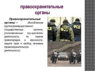 правоохранительные органы Правоохранительные органы— обособленная группа(пр