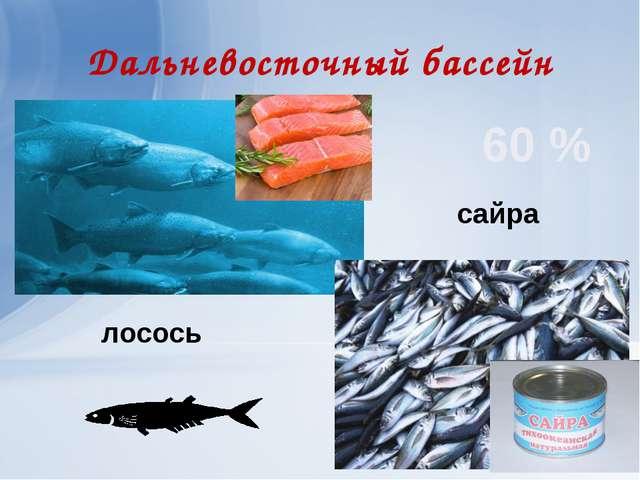 Дальневосточный бассейн сайра лосось 60 %