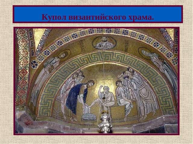 Купол византийского храма. Меню
