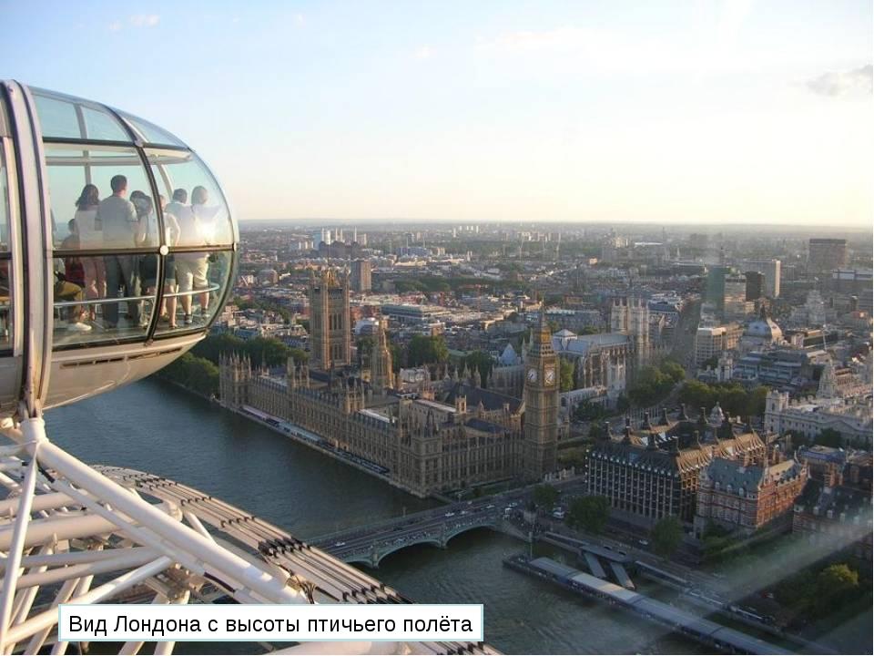 Вид Лондона с высоты птичьего полёта