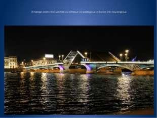 В городе около 800 мостов, из которых 22 разводных и более 200 пешеходных