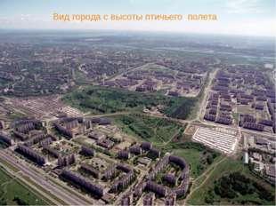 Вид города с высоты птичьего полета