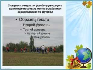 Учащиеся секции по футболу регулярно занимают призовые места в районных сорев