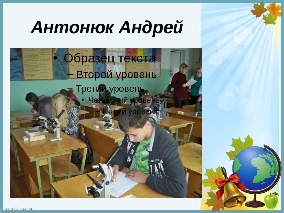 Антонюк Андрей FokinaLida.75@mail.ru
