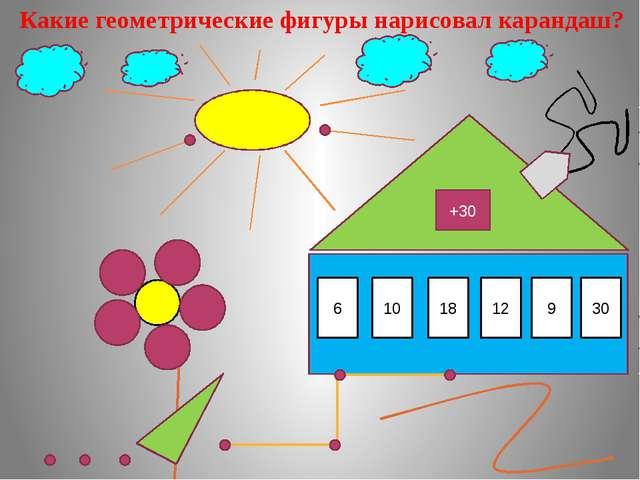 Какие геометрические фигуры нарисовал карандаш? +30 36 6 40 10 48 18 42 12 3...