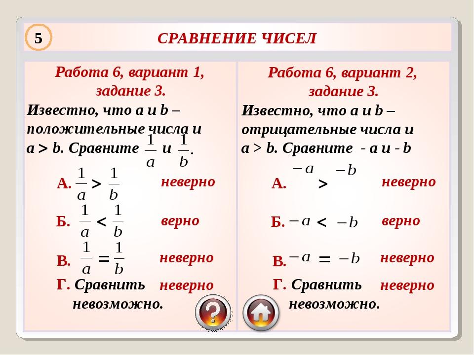 Работа 6, вариант 1, задание 3. Известно, что a и b – положительные числа и a...