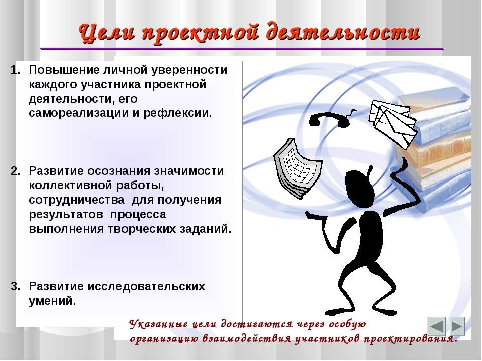 Цели проектной деятельности Повышение личной уверенности каждого участника пр...