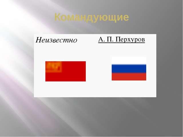 Командующие Неизвестно А.П.Перхуров