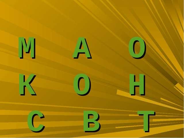 М А О К О Н С В Т
