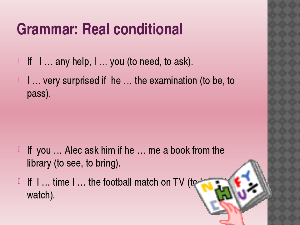 Grammar: Real conditional If I … any help, I … you (to need, to ask). I … ver...