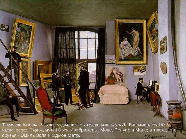 Фредерик Базиль. «Студия художника – Студия Базиль; ул. Ла Кондамин, 9». 1870...