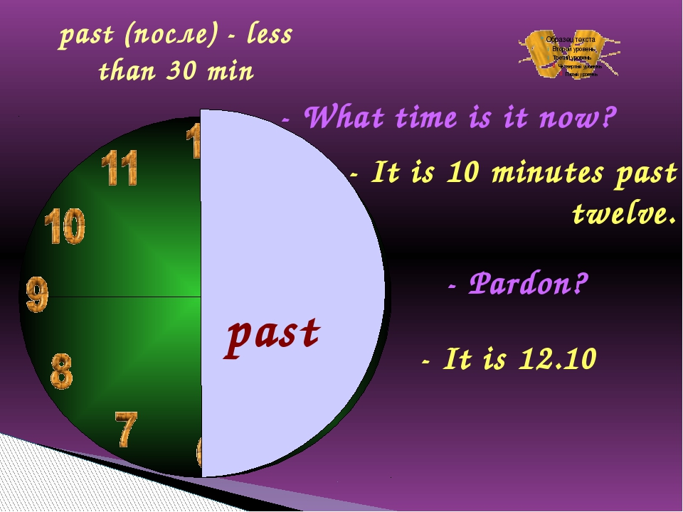 past - What time is it now? - It is 10 minutes past twelve. - Pardon? - It i...