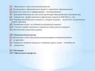 2. Общественно- педагогическая деятельность; 6. Использование в образовательн