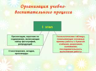 Организация учебно- воспитательного процесса