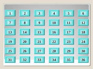 8 9 10 11 12 14 15 16 17 18 20 21 22 23 24 30 29 28 27 26 32 33 34 35 36 1 2