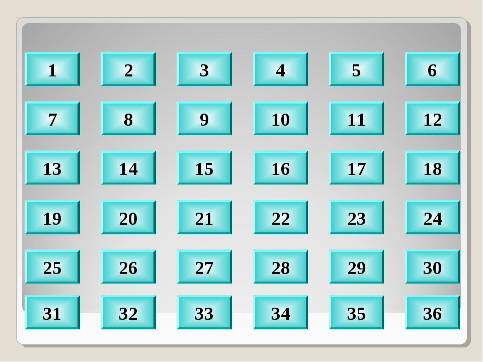 8 9 10 11 12 14 15 16 17 18 20 21 22 23 24 30 29 28 27 26 32 33 34 35 36 1 2...
