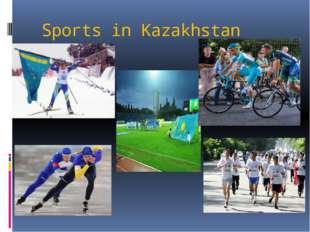 Sports in Kazakhstan