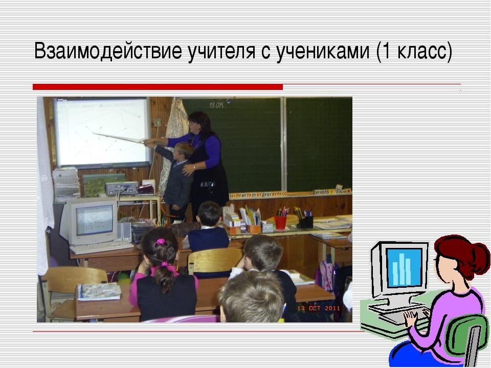 Взаимодействие учителя с учениками (1 класс)