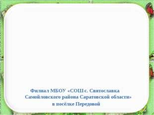 Филиал МБОУ «СОШ с. Святославка Самойловского района Саратовской области» в