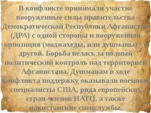 В конфликте принимали участие вооруженные силы правительства Демократической