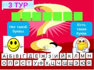 3 ТУР Г И Г И Е Н А Нет такой буквы Есть такая буква А Б В Г Д Е Ж И Й К Л М