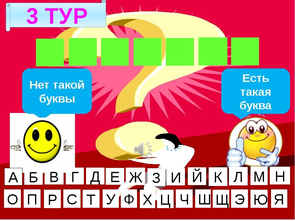 3 ТУР Г И Г И Е Н А Нет такой буквы Есть такая буква А Б В Г Д Е Ж И Й К Л М...