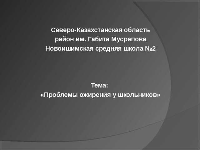 Северо-Казахстанская область район им. Габита Мусрепова Новоишимская средняя...