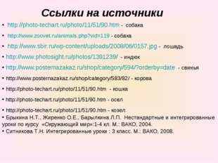 Ссылки на источники • http://photo-techart.ru/photo/11/51/90.htm - собака • h