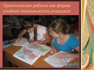 Практическая работа как форма учебной деятельности учащихся