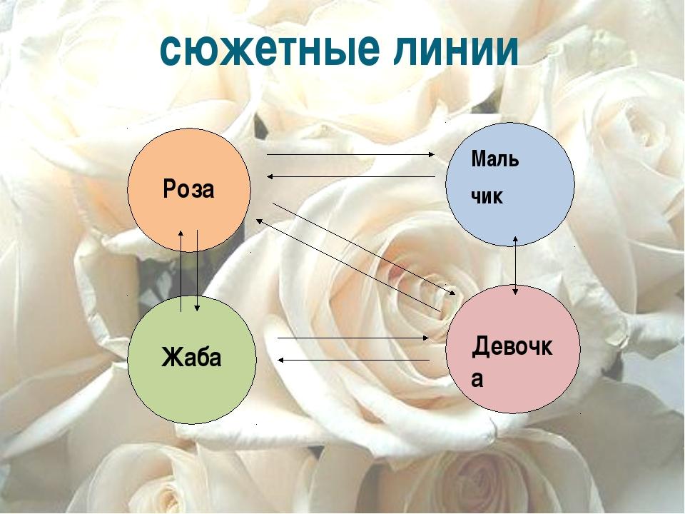 сюжетные линии Роза Маль чик Жаба Девочка