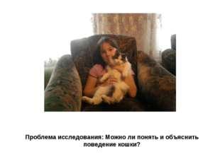 Проблема исследования: Можно ли понять и объяснить поведение кошки?