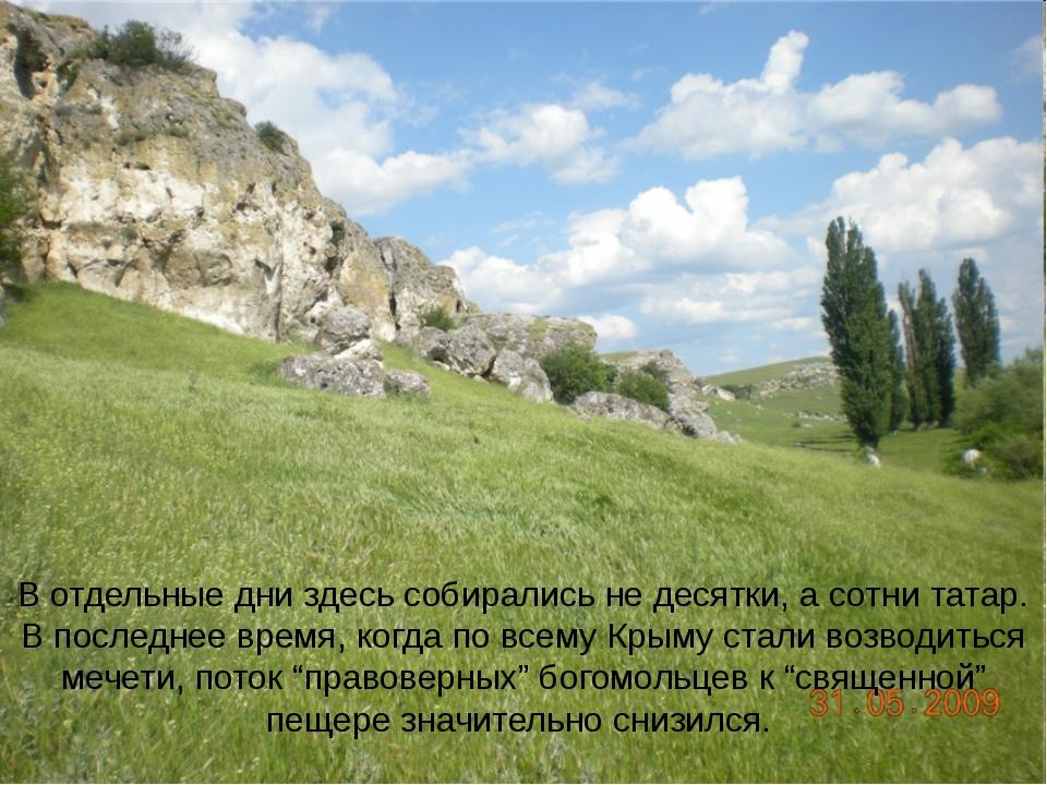 В отдельные дни здесь собирались не десятки, а сотни татар. В последнее время...