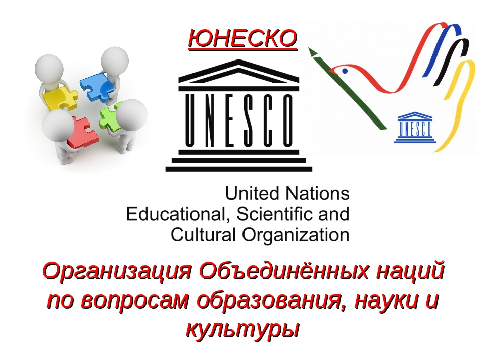 ЮНЕСКО Организация Объединённых наций по вопросам образования, науки и культуры