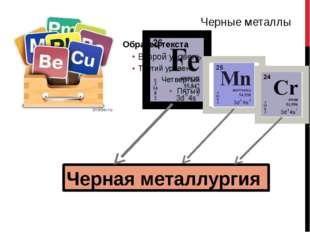 На долю черной металлургии приходится 1/7, а цветной – 1/5 промышленных выбр