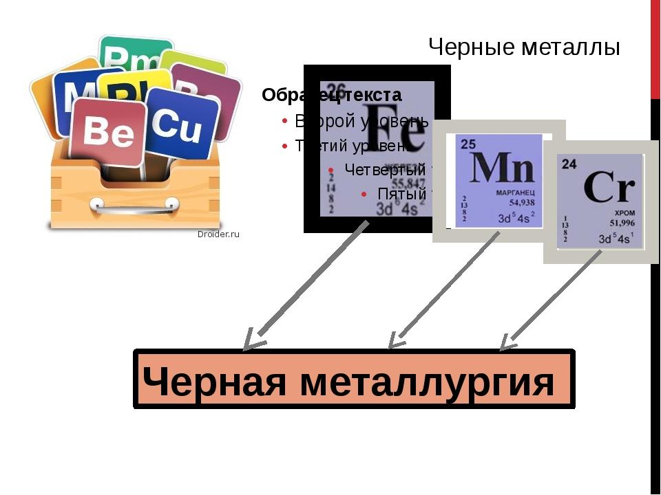 На долю черной металлургии приходится 1/7, а цветной – 1/5 промышленных выбр...