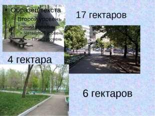 17 гектаров 4 гектара 6 гектаров