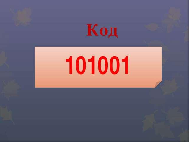 Код 101001