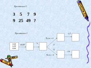 Приложение 2. +0,08 *3 Если > 4 Если < 4 :2 *2 -1,2 -1,6 Приложение 3 3579