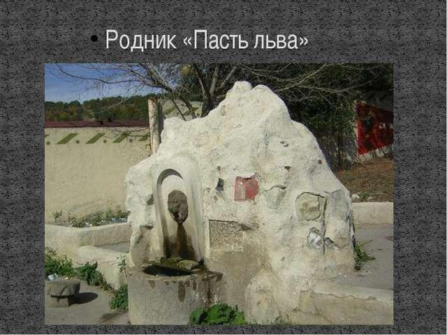 Родник «Пасть льва»