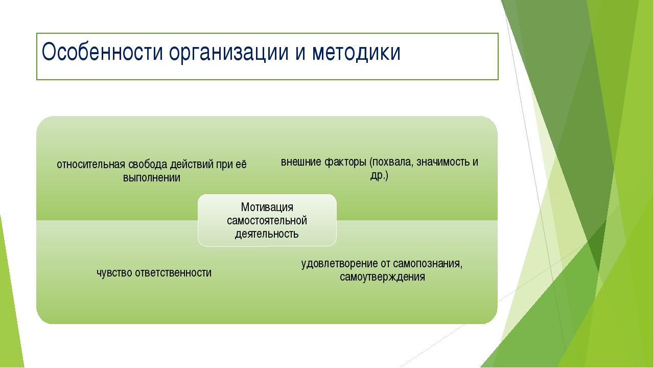 Особенности организации и методики
