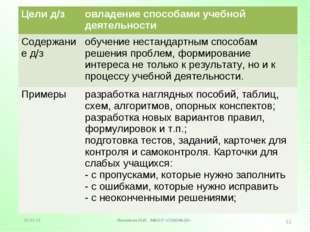 Логинова Н.В. МБОУ «СОШ №16» * * Цели д/зовладение способами учебной деятель