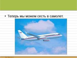 Теперь мы можем сесть в самолет.
