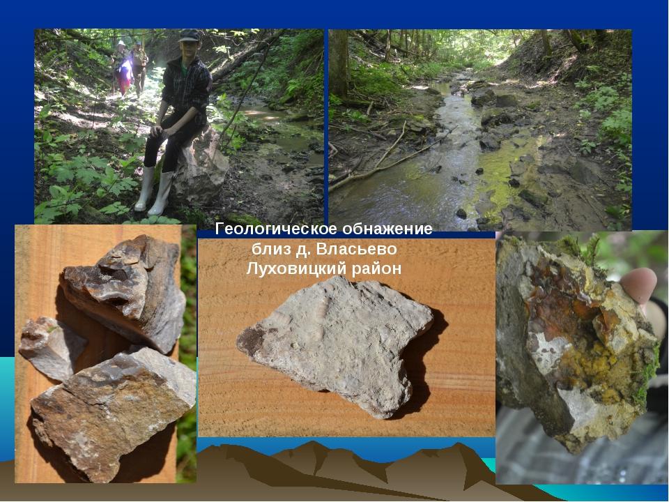 Геологическое обнажение близ д. Власьево Луховицкий район