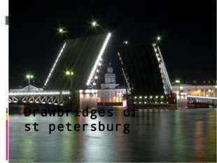 Drawbridges of st petersburg