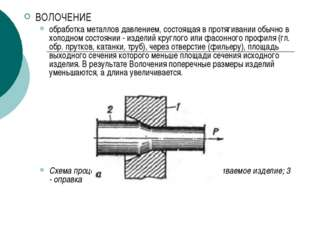 ВОЛОЧЕНИЕ обработка металлов давлением, состоящая в протягивании обычно в хол