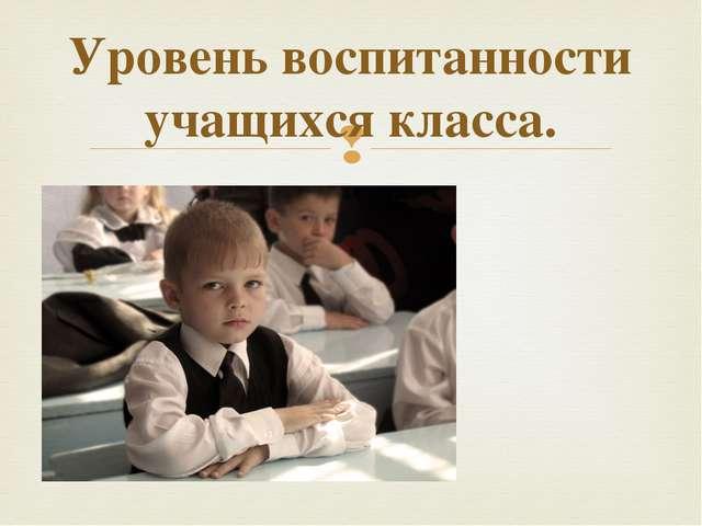 Уровень воспитанности учащихся класса. 